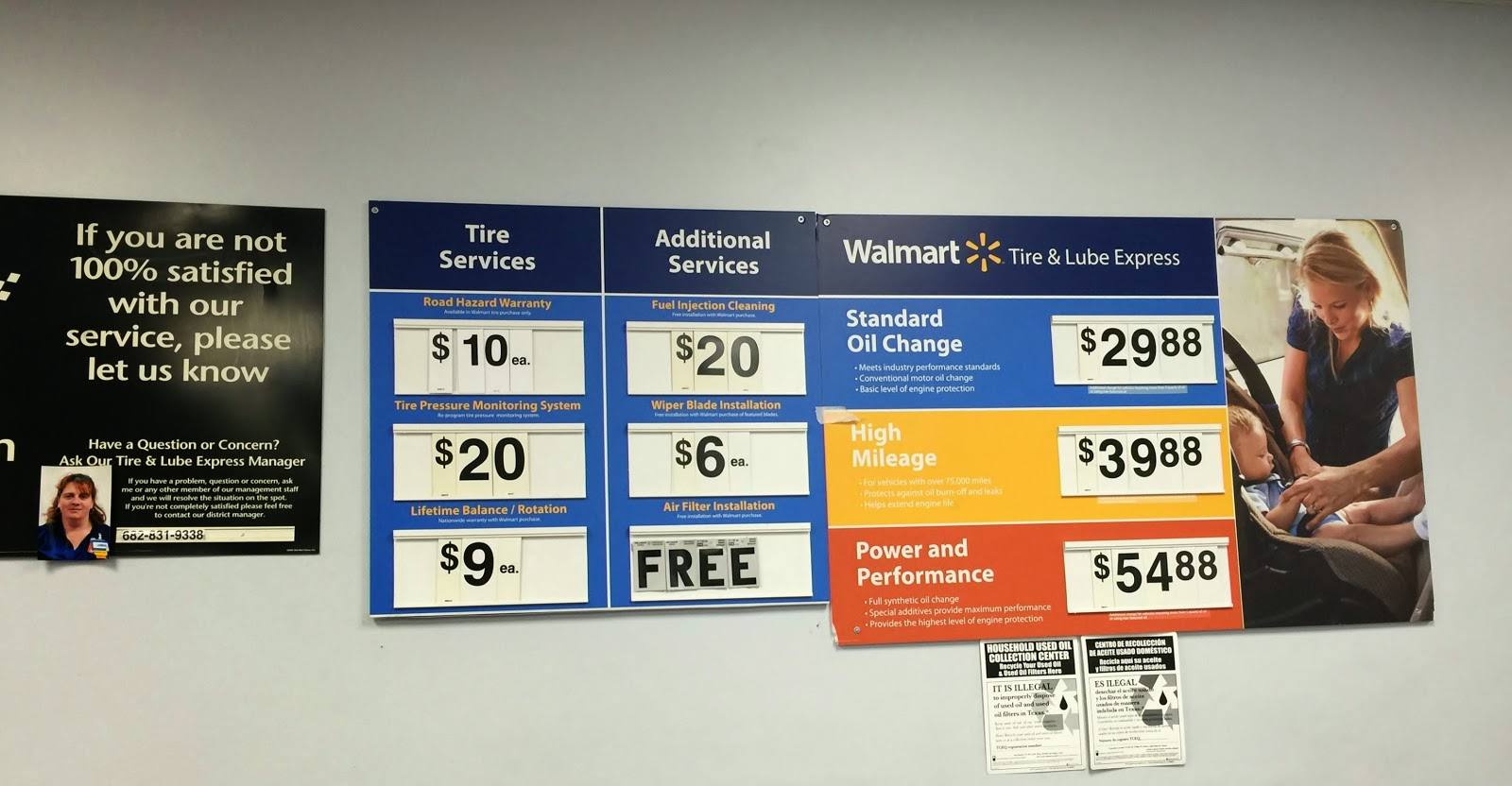 Oil Change At Walmart >> Walmart Oil Change Prices Prices And Fees